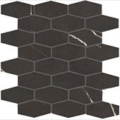 Product swatch of Classentino Marble black hexagon mosaic